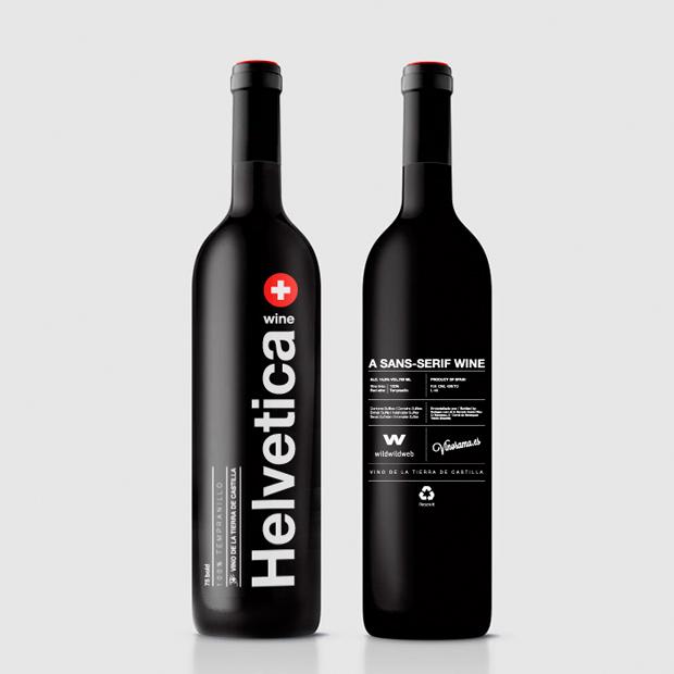 helvetica-wine bottle