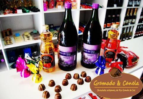 Sucos e chocolates